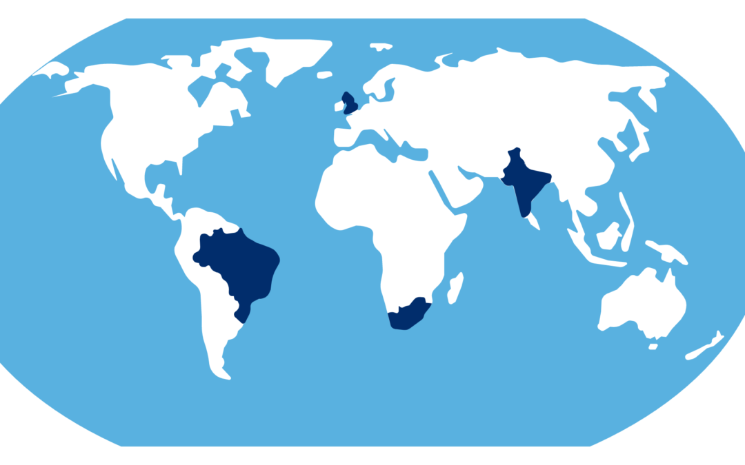 World Map COVID-19 Variants of Concern